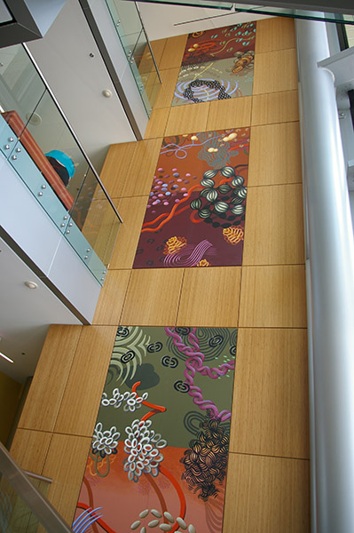 "Meditech Lobby Paintings: Installation View #2, each 60 x 120"", 2008"