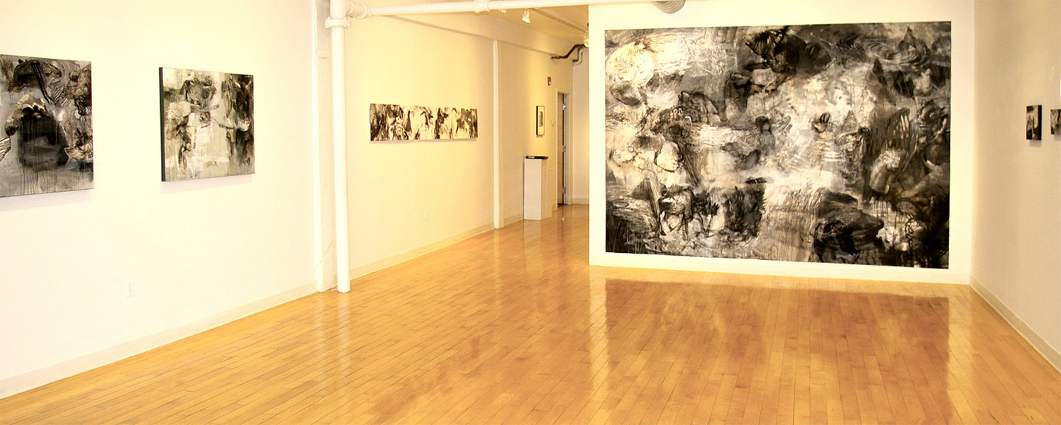 "Cave Dwellers II (Installation View), 90 x 132"", 2012"