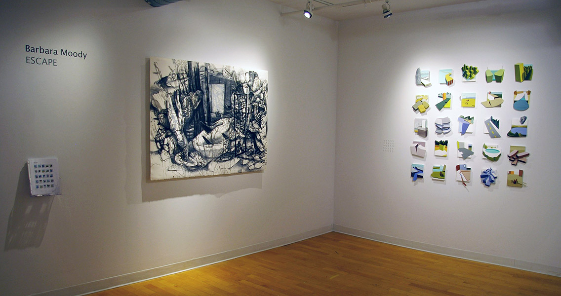 Installation View, Center Gallery at Kingston Gallery, 2014